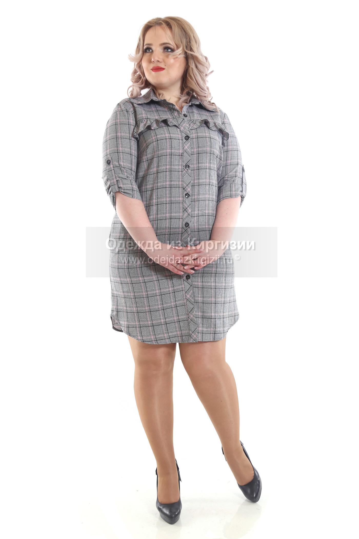 Платье BRV-Клетка рубашка-01